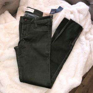 Hollister Crop Olive Skinny Jeans Size 0 / 24